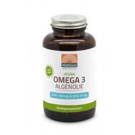 Vegan Omega-3 Algenolie - DHA 150mg & EPA 75mg - 120 capsules