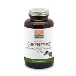 Greenzyme met inuline, Spirulina, Chlorella en Digezyme™ - 730mg - 90 capsules