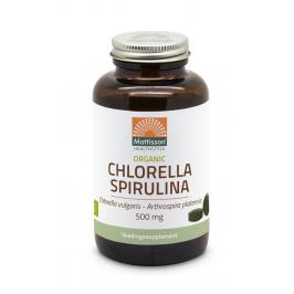 Biologische Chlorella Spirulina 500mg - 240 tabletten