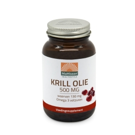 Krill olie Omega 3 - 500mg - 60 capsules