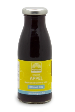 Biologische Appel - Blauwe bessensap - 250 ml