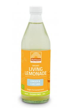 Biologische Living Lemonade - Gember & Kurkuma - 500 ml