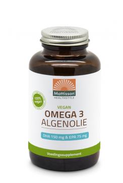 Vegan Omega-3 Algenolie - DHA 150mg & EPA 75mg - 180 capsules