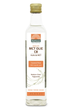 MCT Olie C8 - 99% Caprylzuur - 250 ml