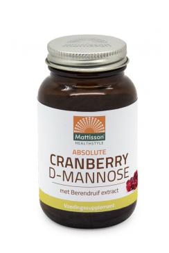 Cranberry D-Mannose met Berendruif extract - 90 tabletten