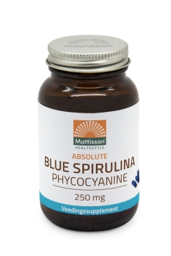 Blue Spirulina Phycocyanine 250mg - 30 capsules