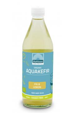 Biologische Aquakefir - Vijgen & Citroen - 500 ml
