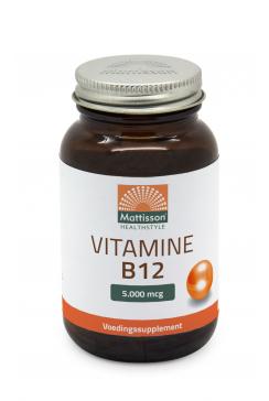 Vitamine B12 - 5000 mcg - 60 zuigtabletten
