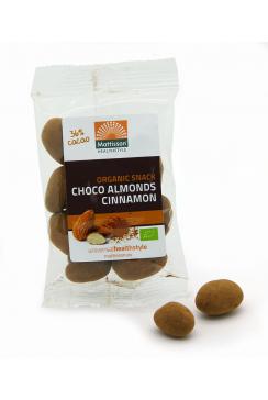 Biologische Choco Kaneel Amandelen - 35 g