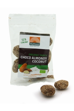 Biologische Choco Kokos Amandelen - 35 g