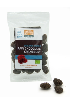 Biologische Choco Cranberries - Raw Snack - 35 g
