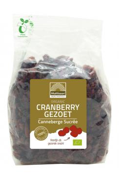 Biologische Cranberry's - Gezoet - 400 g
